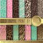 Kit Imprimible Pack Fondos Animal Print 13 Clipart