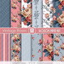 Kit Imprimible Pack Fondos Shabby Chic 83 Clipart