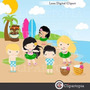 Kit Imprimible Hawaii Imagenes Clipart