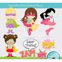 Kit Imprimible Superheroes Nenas 2 Imagenes Clipart