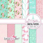 Kit Imprimible Pack Fondos Shabby Chic 2 Clipart