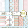 Kit Imprimible Pack Fondos Shabby Chic 75 Clipart