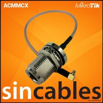 Mikrotik Pigtail Mmcx A N-hembra 20cm Lmr100 Acmmcx