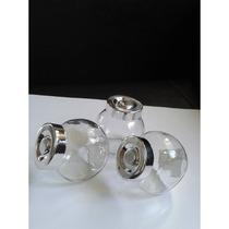 Bomboneras Grande - Envases De Vidrio Con Rosca - Botellas