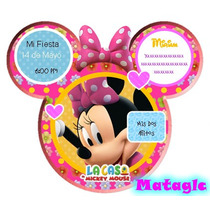 Invitaciones Minnie Rosa La Casa De Mickey Cajas Marcos
