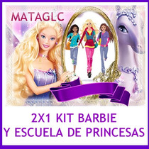 2x1 Kit Imprimible Barbie Scrapbook Marcos Imagenes Tarjetas