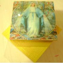 Cajitas Cajas Mdf Recuerdo Difuntos Religiosas Efecto Vidrio