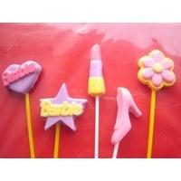 Chupetas De Chocolate Personalizadas De Barbie Princesas