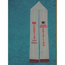 Estolas O Bufandas Sublimadas Con Flecos Para Graduaciones