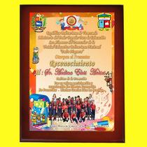 Placa De Reconocimiento 24hrs Vitrificada 27x36cm Con Foto