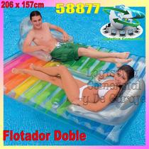 Flotador Inflable Grande Doble 2 Personas Porta Vasos 58877