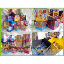 Docena Mini Caja Cartulina Decorativa Recuerdo Manualidades