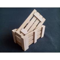 Guacales, Cajitas, Cajas Mdf Crudo. De 10x5,5x5,5cm C/tapa