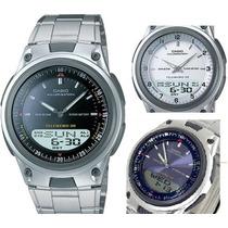 Reloj Casio Analogico Pantalla Digital Led De Fondo