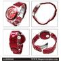 Nuevo Swatch Modelo Svck 4050 Ag. Rojo Fucsia.