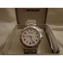 Reloj Caballero Suizo Wenger Original 43mm Acero Inoxidable