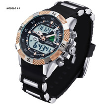 Reloj Deportivo Militar Acero Inox Sumergible 30m Nav13