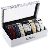 Reloj Xoxo Dama Xo9025 Crocodile Interchangeable Strap Set