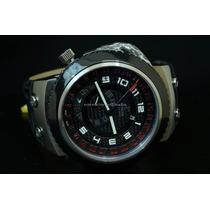 Reloj Invicta Swiss Reserve Russian Black Gmt Leather
