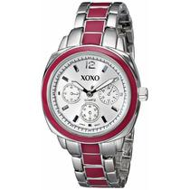 Reloj Xoxo Dial Plata Tono Y Color De Rosa Pulsera Original