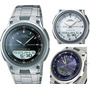Reloj Casio Aw80 Analogico Digital Correa De Metal Original