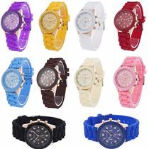 Reloj Geneva Modelo Hkwatch Varios Colores Pulsera Unisex!!!