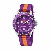 Reloj Ice Watch Polo Morado Y Naranja 43mm