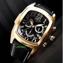 Reloj Invicta Mens Swiss Lupah Dragon Gold 18kl Black Chrono