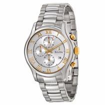 Reloj Bulova 98b175 Cronógrafo Acero Inoxidable Original