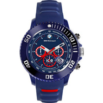 Reloj Ice Watch Bmw Motorsport Azul Oscuro Y Rojo 48mm