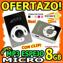 Wow Mp3 Espejo Micro Con Clip Soport Hasta 8gb Memoria Micro