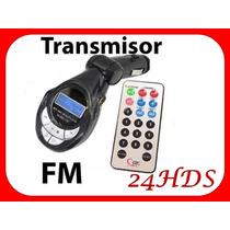 Transmisor Fm 4 En 1 Control Remoto Puerto Usb Sd Mp3 Carro