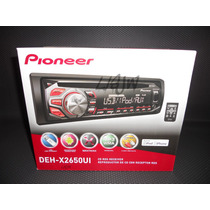 Reproductor Pioneer Deh-x2650ui Ipod Iphone Cd Mp3 Usb Aux