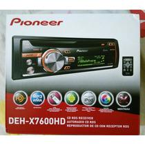 Reproductor Pioneer Deh-x7600hd Cd/mp3/usb Hd Radio Aux