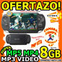 Wow Mp5 Mp4 Mp3 4gb A 12gb Pmp Vita Camara Juegos Portatil