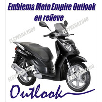Calcomania Emblema Moto Empire Benelli Outlook En Relieve