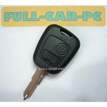 Carcasa Para Llave Peugeot 206 - 207 2 Botones Con Logo