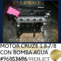 Motor Cruze 1.8 Con Bomba Agua 96853696