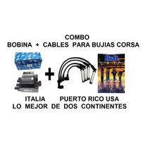 Combo Bobina Rallada + Cable Bujías 8mm 300ohm Chev Corsa
