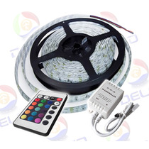Combo 5 Mts Cinta Led Rgb 5050 Y Controlador Full Color 12v