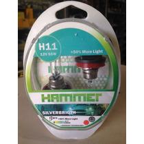 Bombillo Halógeno H11 Silverbrigth Hammer 50%+luz