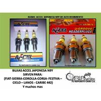 Bujias Accel N9y Fiat,sierra,corolla,corsa, Festiva, Cielo