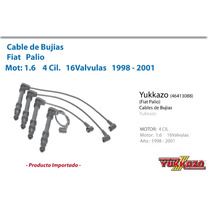 Cable Bujias Fiat Palio Mot1.6 4cil 16val 1998-2001
