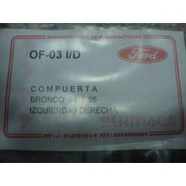 Guaya De Compuerta Para Ford Bronco 89-96