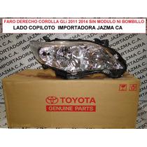 Faro Derecho Corolla Gli 2011 2014 Orig. Toyota Sin Modulo