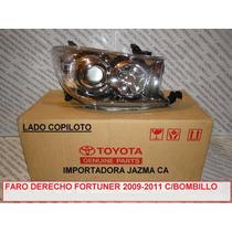 Faro Derecho Fortuner 2009 2011 Original Toyota Con Bombillo