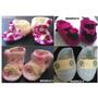 Escarpines De 6 A 12 Meses Y Gorros Tejidos A Crochet