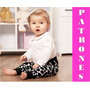 Patrones Leggins Para Bebe Niña Moldes Tamaño Real Costura