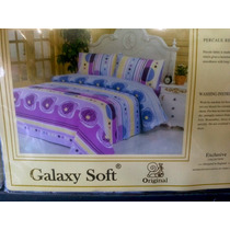 Sabanas Queen Galaxy Soft 100 Algodon 220 Hilos