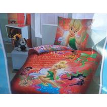 Edredon Con Sabana Individual, Infantil Disney 5 Pzas